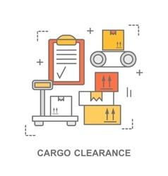Cargo clearance web banner vector