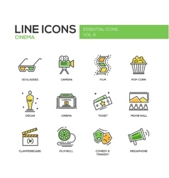 Cinema and movie icons set vector