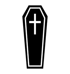 Coffin icon simple style vector
