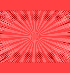 Comic abstract red background vector