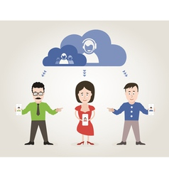 Communication people vector