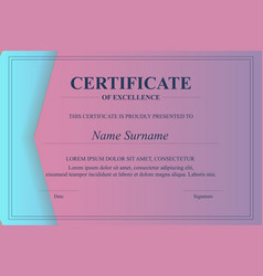 creative certificate appreciation award vector image