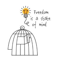 Creative ideas mind symbols bulb head and sign vector image