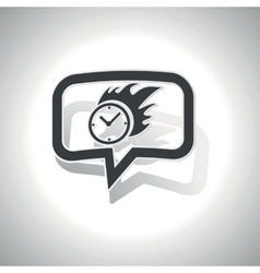 Curved burning time message icon vector image
