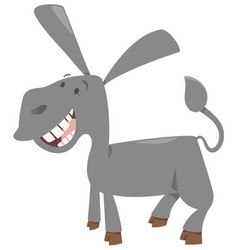 cute donkey farm animal vector image