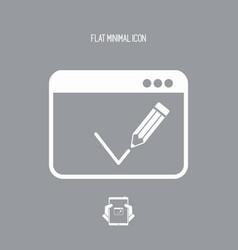 Digital checkmark flat icon vector