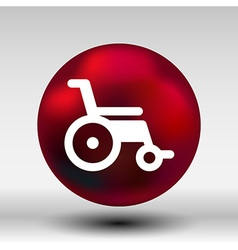 disabled icon sign wheelchair handicap symbol vector image
