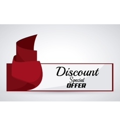 Discount and offer design vector