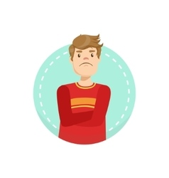 Doubtful emotion body language vector