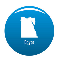 egypt map in black simple vector image