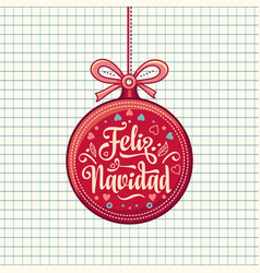 Feliz navidad greeting card in spain vector