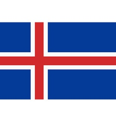 Flag of the Iceland vector image
