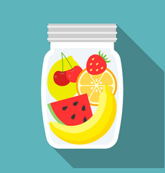 fruit in glass bottle vector image vector image