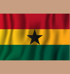 ghana realistic waving flag national country vector image