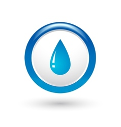 Glossy water drop vector