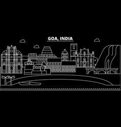 Goa silhouette skyline india - goa city vector
