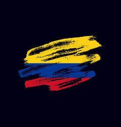 Grunge textured colombian flag vector