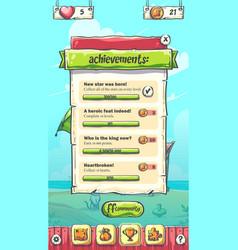 Hello summer playing field achievements vector