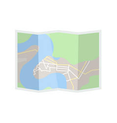 Hiking map flat vector