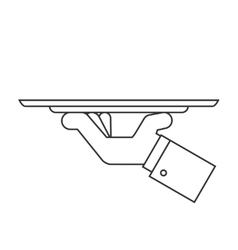 Holding tray line icon vector image
