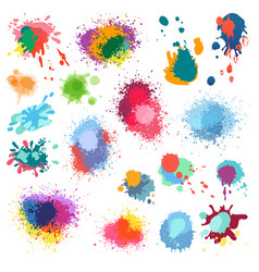 ink paint splat paint splashes color vector image
