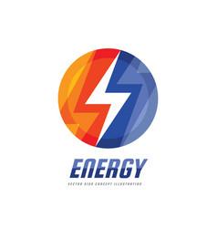 lightning - business logo template concept vector image