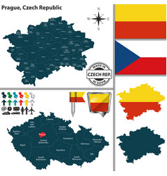 map of prague czech republic vector image
