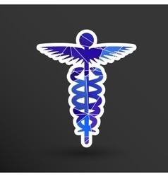 Medicine icon logo symbol snake caduceus doctor vector