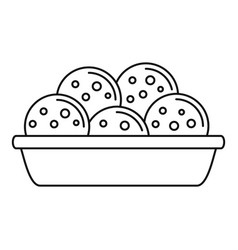 Mexican cookie icon outline style vector