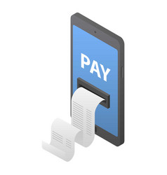 mobile pay icon isometric style vector image