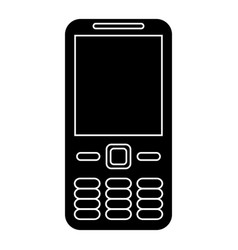 Mobile phone call technology pictogram vector