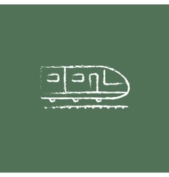 Modern high speed train icon drawn in chalk vector