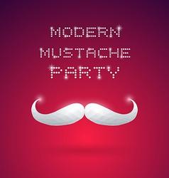 Modern Mustache Party vector