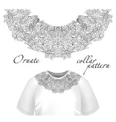 Neck print floral design Fashion white vector image