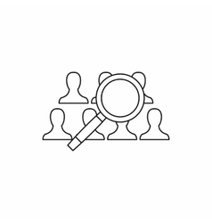 People search icon outline style vector