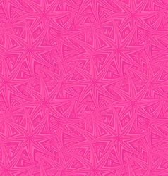 Pink seamless curved star pattern background vector