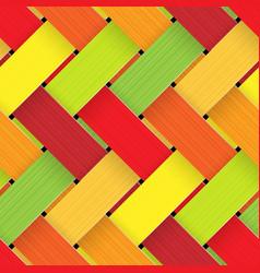 plastic basketwork vector image