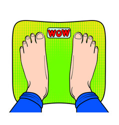 pop art comic style retro weight loss concept vector image