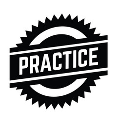 Practice stamp on white vector