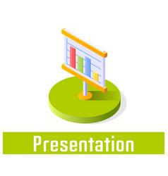 presentation icon symbol vector image