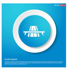 railroad track icon abstract blue web sticker vector image