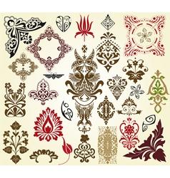 retro floral vector image