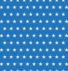 Seamless pattern of white stars on blue background vector