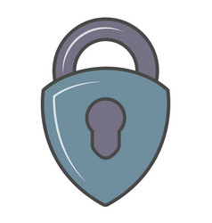 security padlock isolated pictogram vector image
