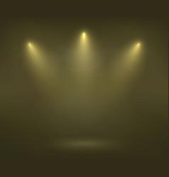 spotlight on scene vector image