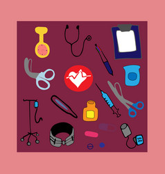 staff nurse kit background vector image