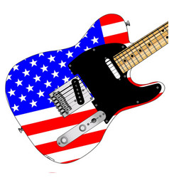 Stars and stripes elelctric guitar vector