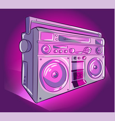 stereo audio radio pink and purple vector image