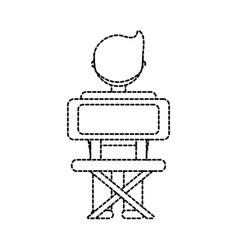 Student at desk icon vector
