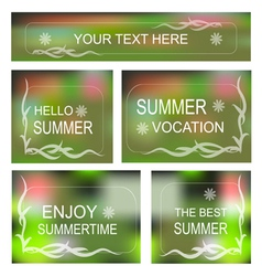 Summertime background Decorative frame set vector